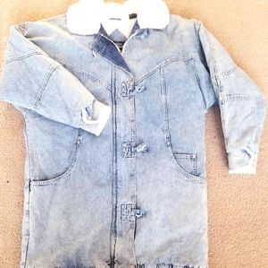 Vintage 80's 90's Andy Johns lined Jean Jacket